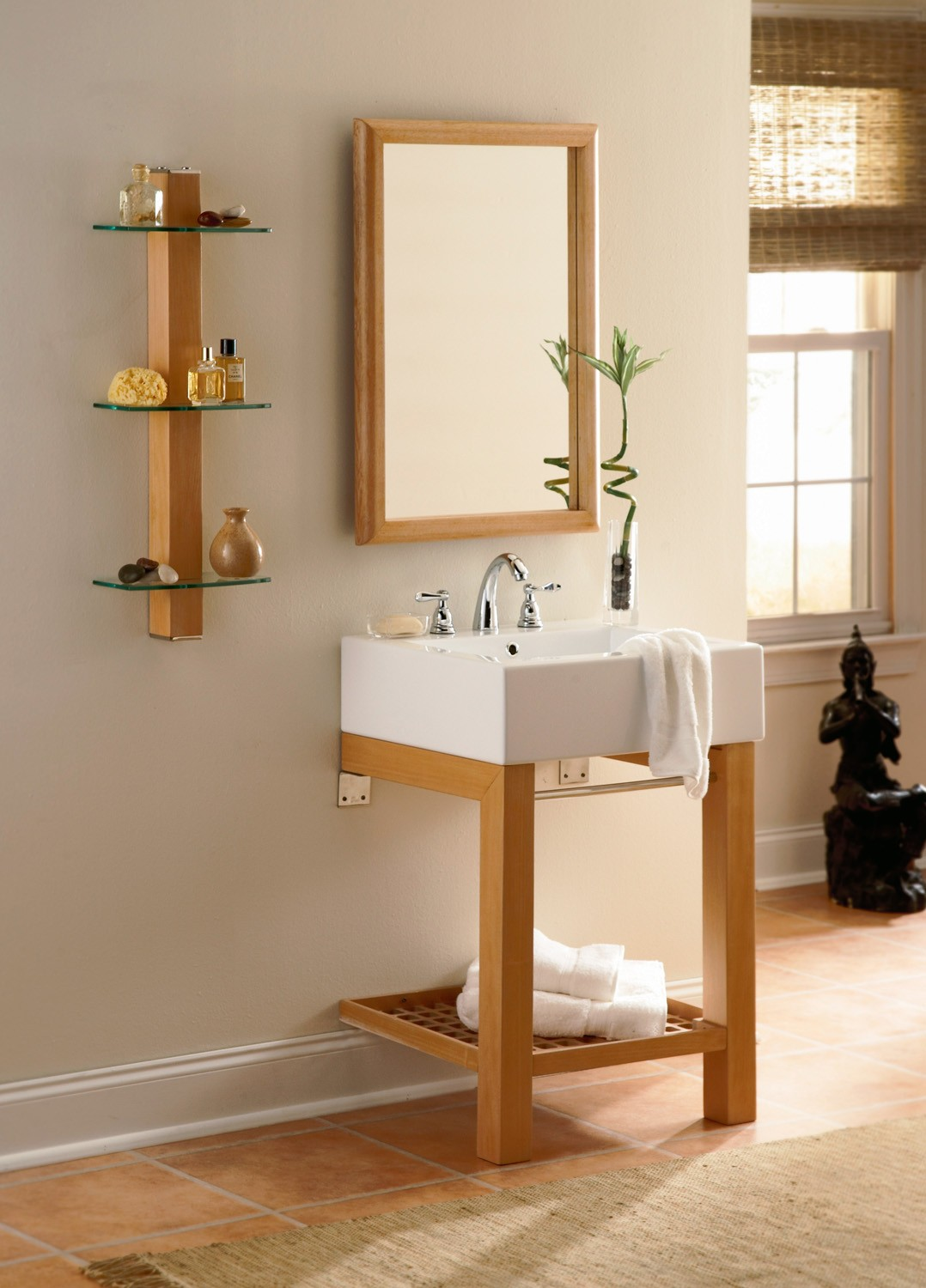 Infusion<sup>™</sup> Lavatory Console with Rectangular Mirror and Shelf