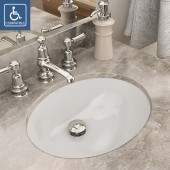 Carlyn<sup>®</sup> Oval Biscuit Vitreous China Undermount Lavatory with Overflow