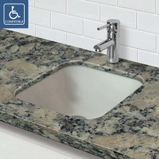 TRANSLUCENCE® SQUARE UNDERMOUNT GLASS SINK