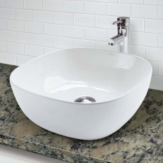CLASSICALLY REDEFINED® SQUARE ABOVE-COUNTER VITREOUS CHINA BATHROOM SINK
