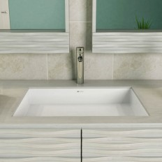 Sacha SOLID SURFACE RECTANGULAR UNDERMOUNT Bathroom Sink