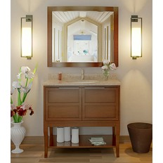 AURA® SOLID WOOD BATHROOM VANITY